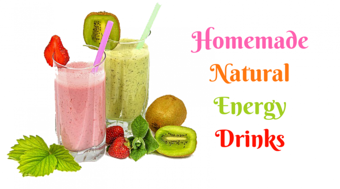 Homemade natural energy drinks