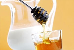 Milk and honey, homemade eye drop-